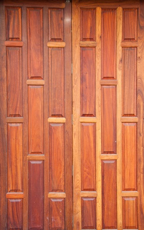 Thai wooden door photo