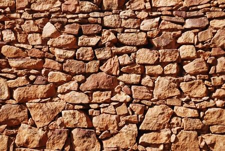 Stonework of fortress wall Standard-Bild
