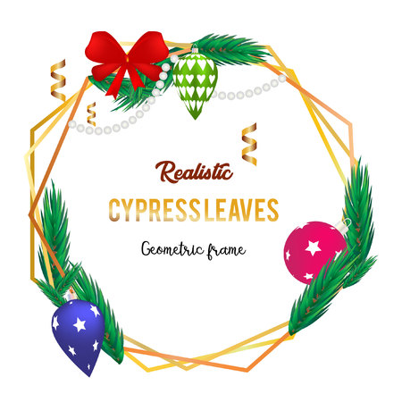 realistic cypress leaves