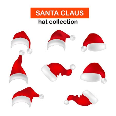 santa hat collection Illustration