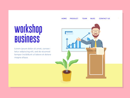 landing page template with workshop business