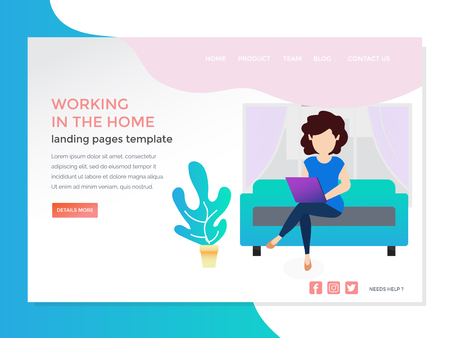 landing page with monitoring work at home