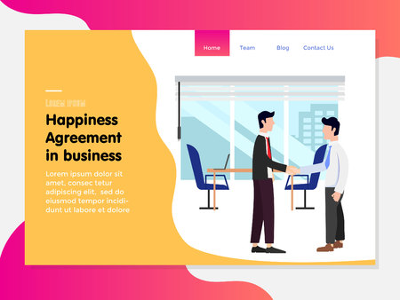 landing page template with agreement partner business