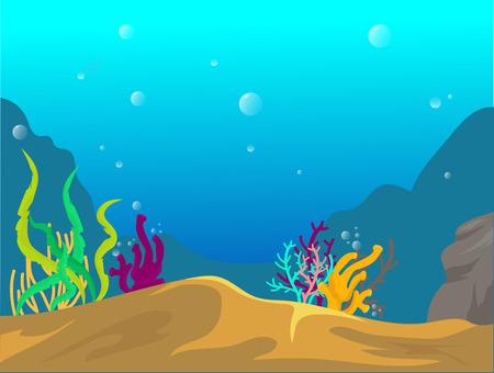 fond, sous, eau, dessin animé Vecteurs
