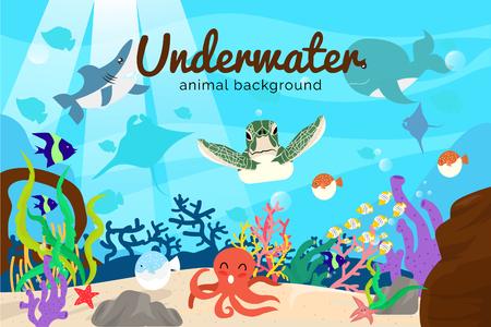 underwater animal sea