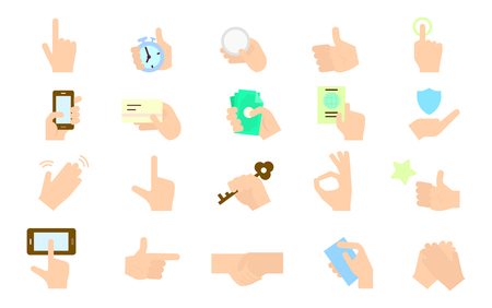 Hand Icon Set illustration Illustration