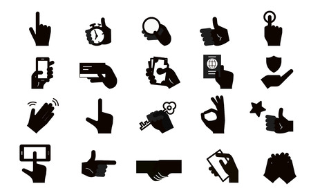 Pictogram Hand Icon Set
