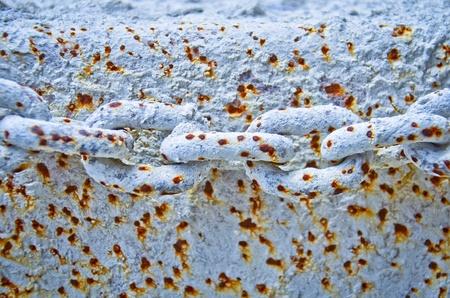 manacle: Iron,stain, surface,manacle