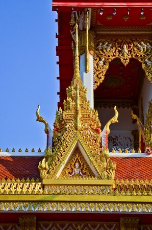 gable: Temple,Tiered,Gable Stock Photo