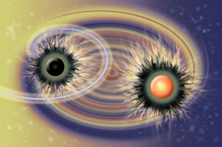 Imagination universe abstract background illustration illustration
