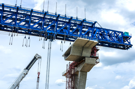 flyovers: The construction of flyovers with innovation. Stock Photo