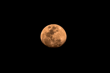 gibbous: The orange Waxing Gibbous moon