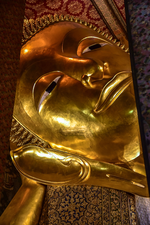 wat pho: Reclining Buddha was  beautiful at Wat Arun. Editorial