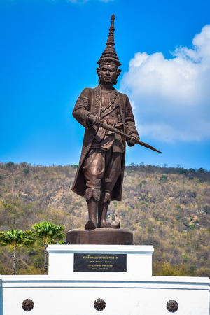 King Narai the great statue at Great Kings monument at Rajabhakdi Park, Hua-Hin, Prachuap Khiri Khan,Thailand. 新聞圖片