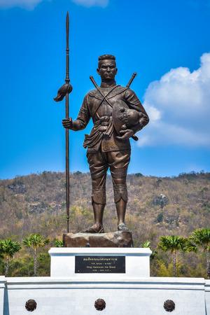 king ramkhamhaeng: King Naresuan the great statue at Great Kings monument at Rajabhakdi Park, Hua-Hin, Prachuap Khiri Khan,Thailand.