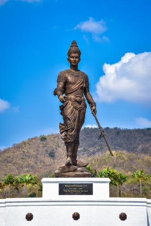 king ramkhamhaeng: King Ramkhamhaeng the great statue at Great Kings monument at Rajabhakdi Park, Hua-Hin, Prachuap Khiri Khan,Thailand.