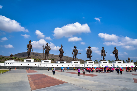 king ramkhamhaeng: The great statue at Great Kings monument at Rajabhakdi Park, Hua-Hin, Prachuap Khiri Khan,Thailand. Editorial