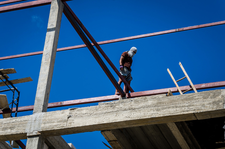 formatting: Construction workers working on high risk