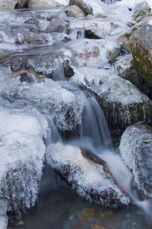 onrush: frozen mountain stream