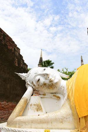 yai: Buddha al Wat Yai Chaimongkhol, Ayutthaya Archivio Fotografico