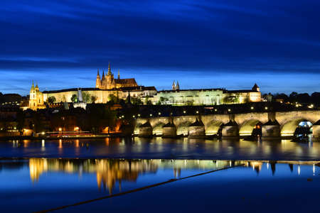 Sunset - Charles Bridge in Prague photo