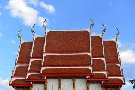 korat: Beautiful Thai Buddhist monastery. Wat NongJabok, Korat Thailand. Stock Photo