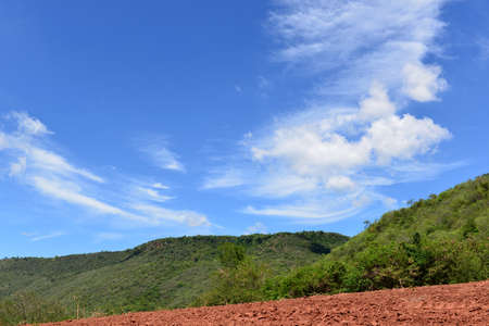 rural areas: Hill and Blue sky with clouds in rural areas, Thailand Stock Photo