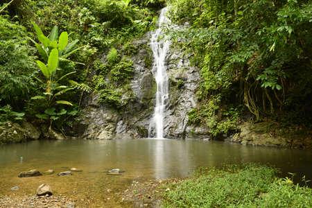 ThanThip Waterfall, waterfall in deep forest near Mekong river. Nong Khai province Thailand. Stock fotó