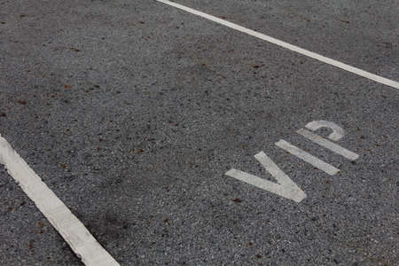 vip area: VIP service symbol with a first class reserved parking with a blank area for text.