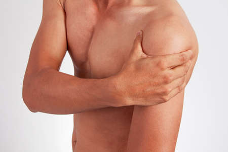 enhanced healthy: Pain in the shoulder.