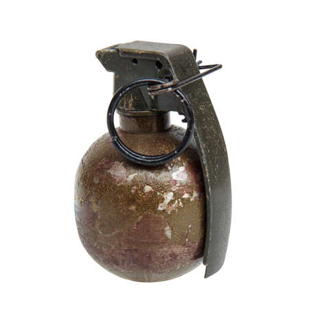 Grenade on isolated on white background and Clipping path.