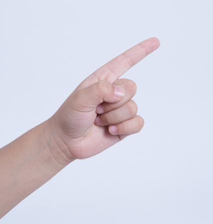 forefinger: finger point command sign symbol forefinger