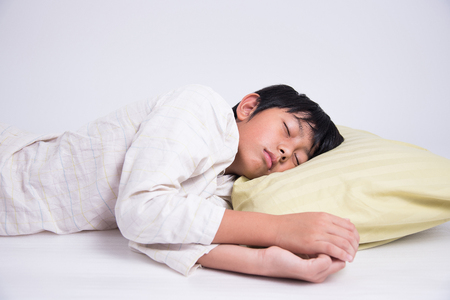 pyjamas: boy white asian bed sleep relax night dream pyjamas peaceful