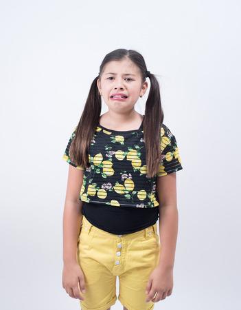 bad attitude: girl child cry kid teen angry bad attitude sad female asian