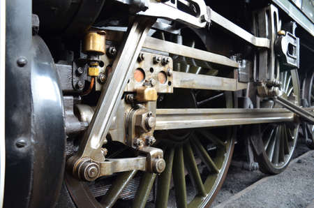 Steam train wheels  photo