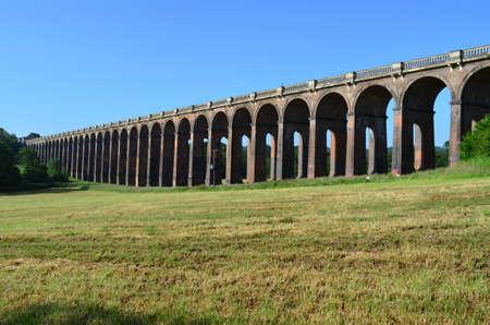 sussex: Railway viaduct in Sussex  Stock Photo
