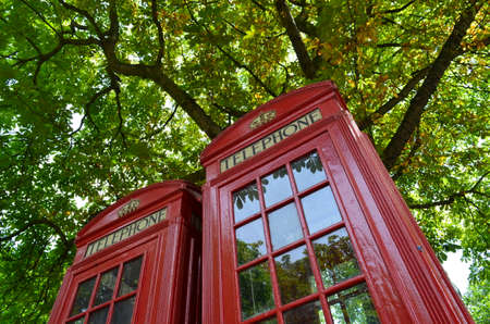 Red public telephone box  photo