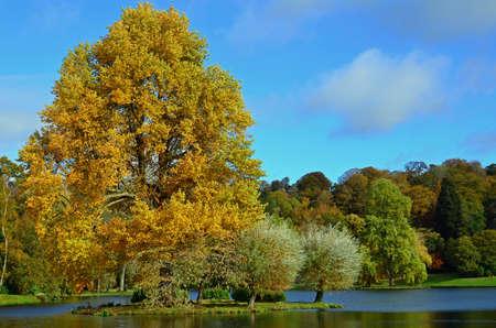 stourhead: Autumn colours in the English countryside.