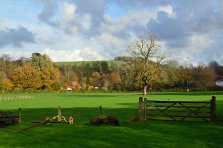 weald: Open countryside of the Weald in Sussex. Stock Photo