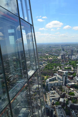 View from the clouds on the Shard London. Editorial