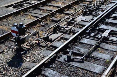 palanca: Ferrocarril de los puntos de unión y palanca.