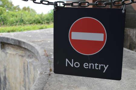 No entry sign.