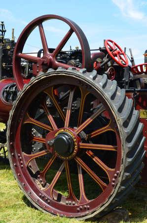 Steam traction engine.