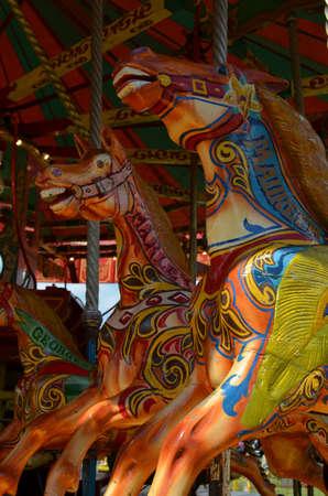 merry go round: Galloping horses merry go round.