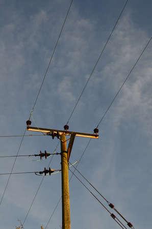electricity pole: Single electricity pole