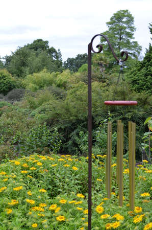 chime: Garden wind chime Stock Photo