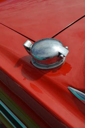 Metal vehicle fuel filler cap Banco de Imagens