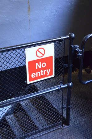 Modern no entry sign