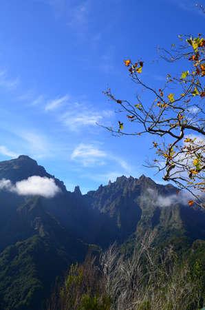 Mountain peak in Madeira.