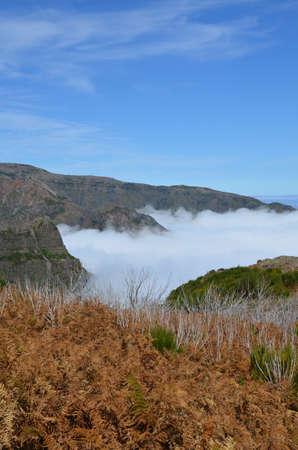 Mountain range on the island of Madeira.